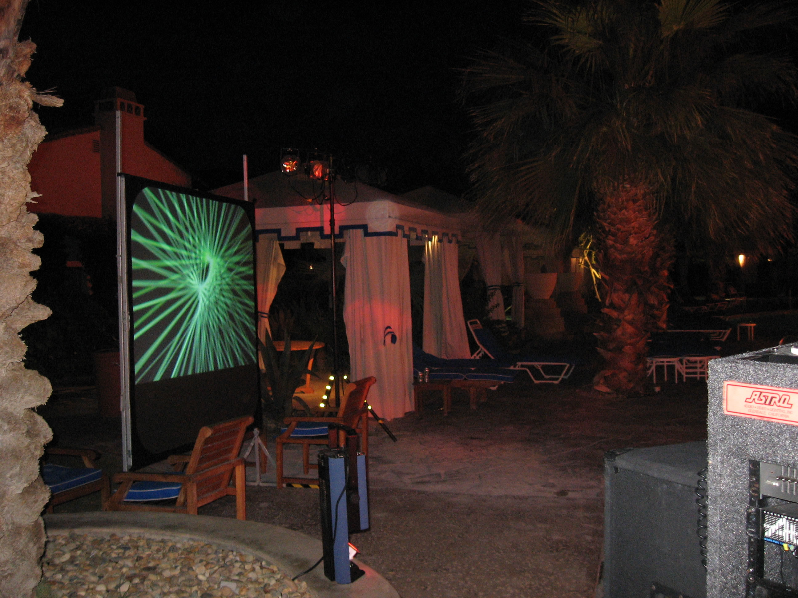 Video Projection Orange County Los Angeles Palm